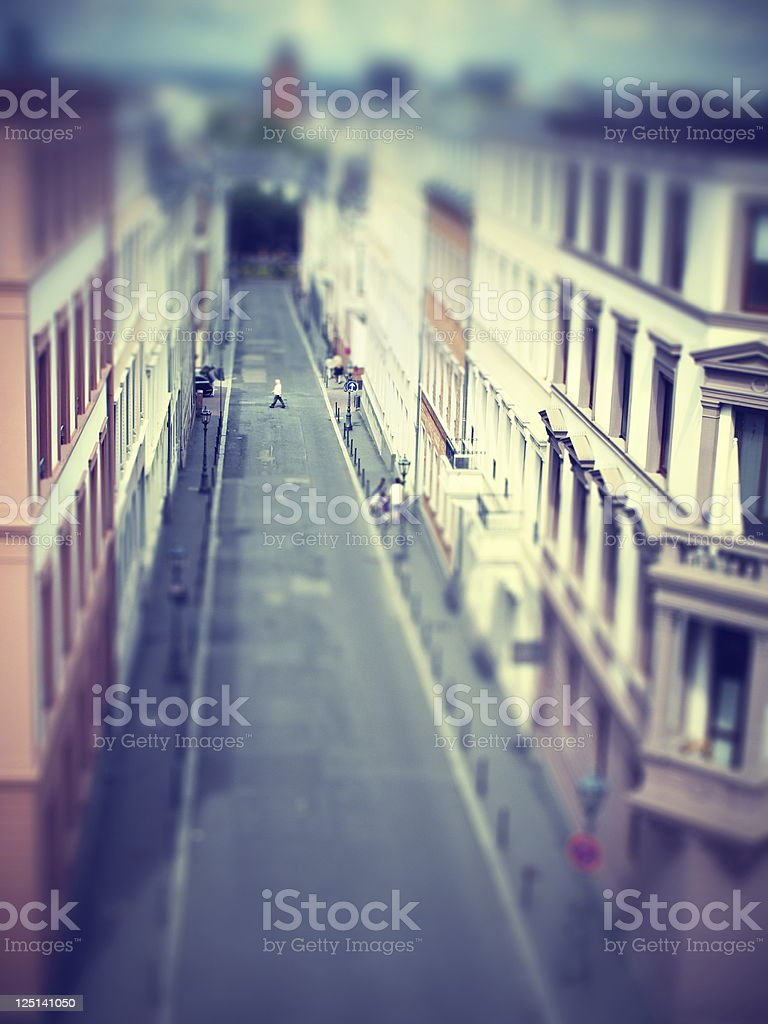 City scene on lazy sunday stock photo