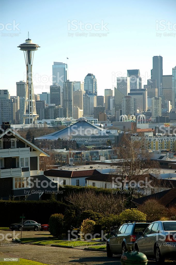 City - Seattle Neighborhood view royalty-free stock photo