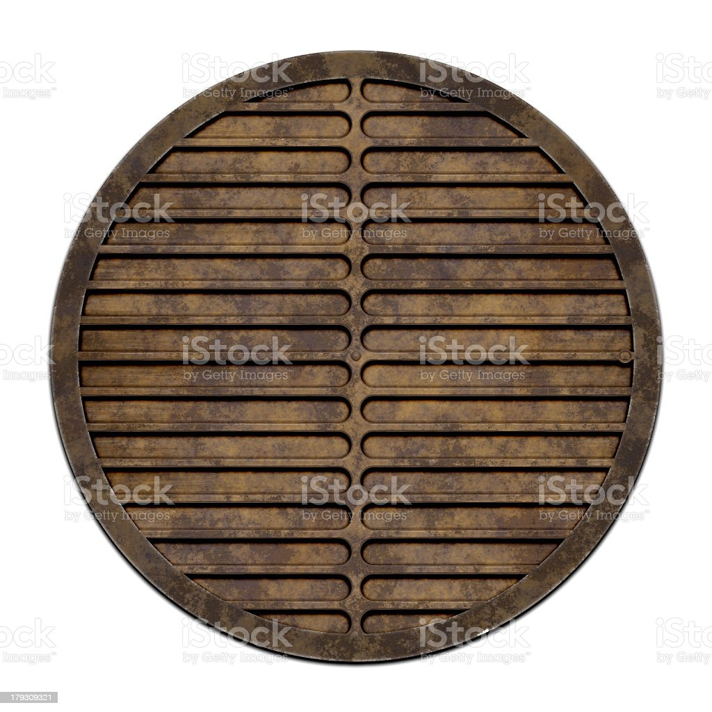 City sewer cover (Manhole serie) royalty-free stock photo