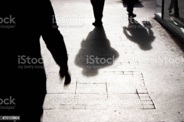 City Shadows And Silhouettes Stock Photo - Download Image Now