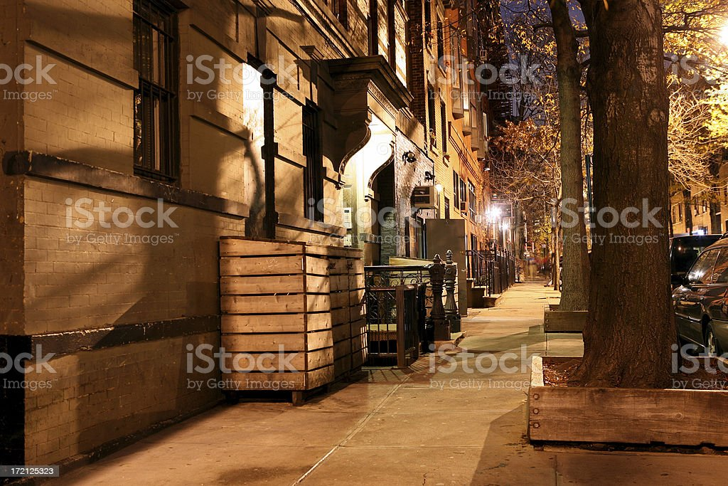 City sidewalk stock photo