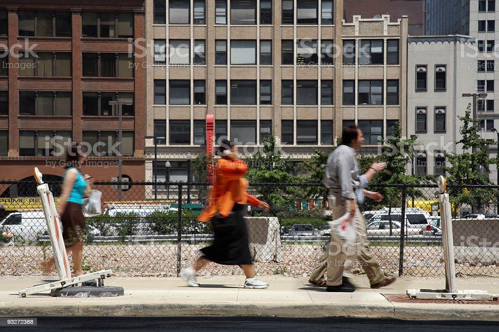 City Sidewalk royalty-free stock photo