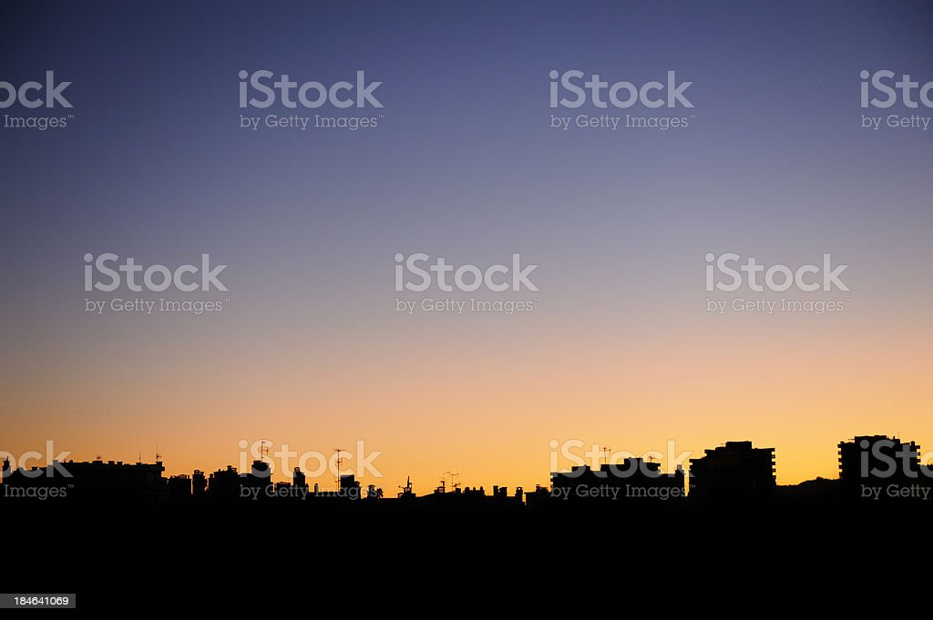 City Silhouette at Dusk royalty-free stock photo