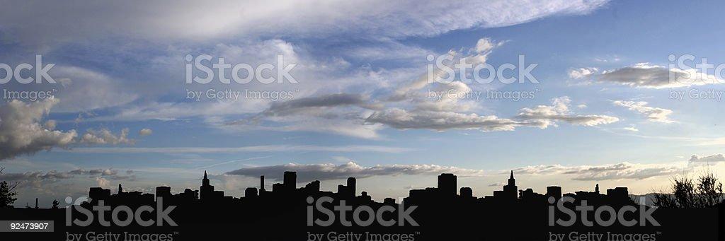 City silhouette (panorama) royalty-free stock photo
