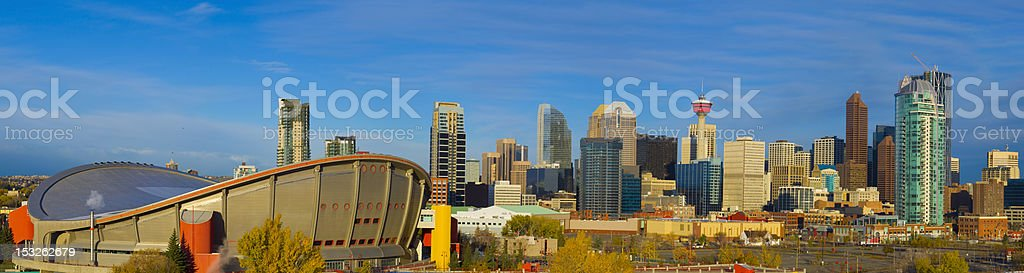 City Sky Line at Dawn stock photo