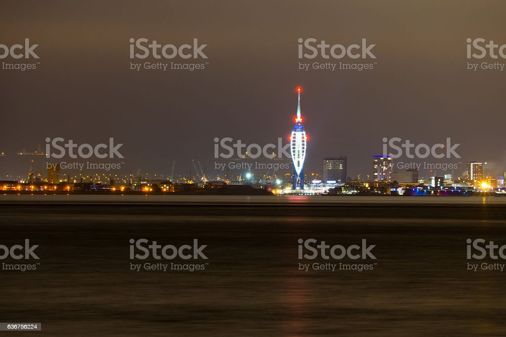 City Skyline and Spinnaker Tower stock photo
