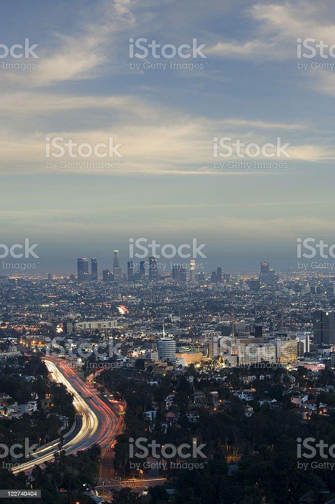 City skyline at night - Royalty-free Architecture Stock Photo