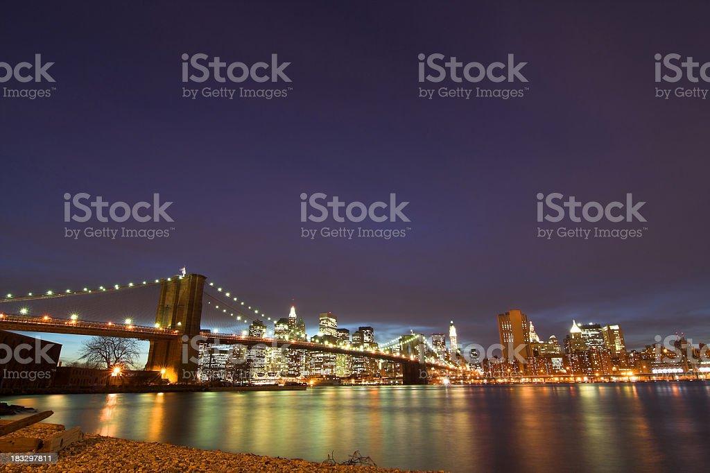 City Skyline at Night royalty-free stock photo