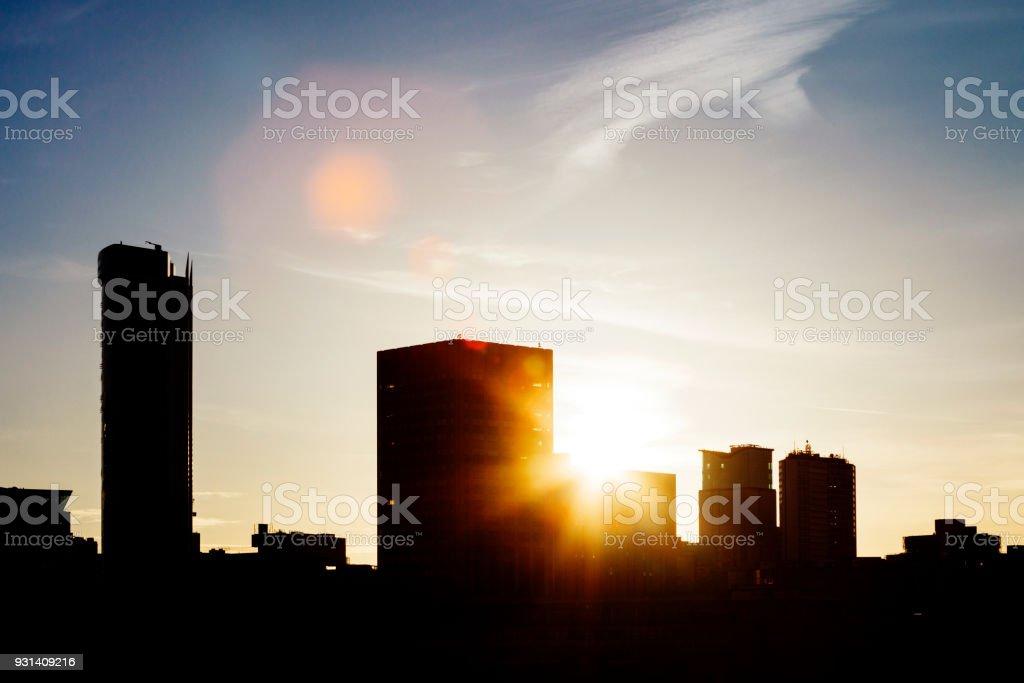 City skyline - Birmingham, UK stock photo