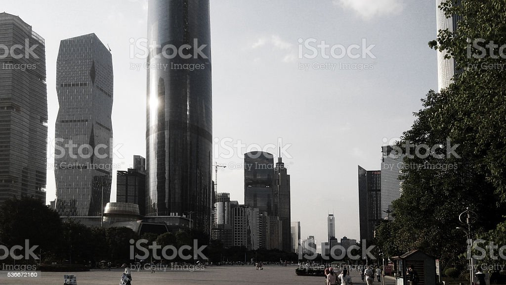 City skyline, Guangzhou CBD stock photo