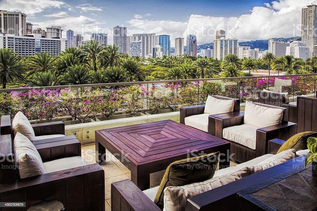 City Skyline in Honolulu stock photo