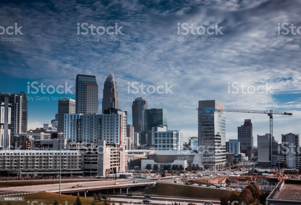 City Skyline in the Early Morning stock photo