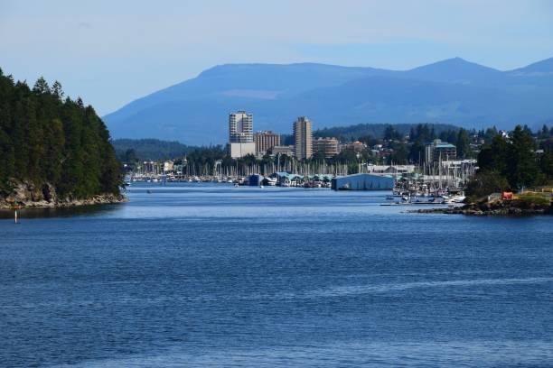 Skyline der Stadt Nanaimo, BC Kanada – Foto