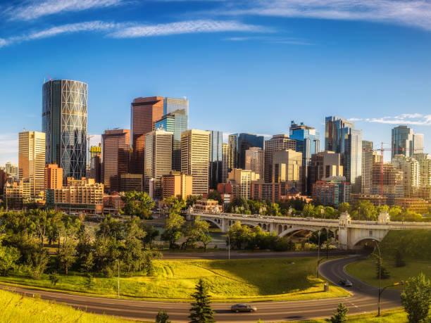 City skyline of Calgary, Canada stock photo