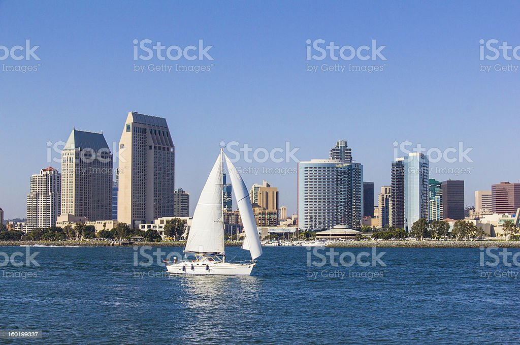 City Skyline Of San Diego, California (P) royalty-free stock photo