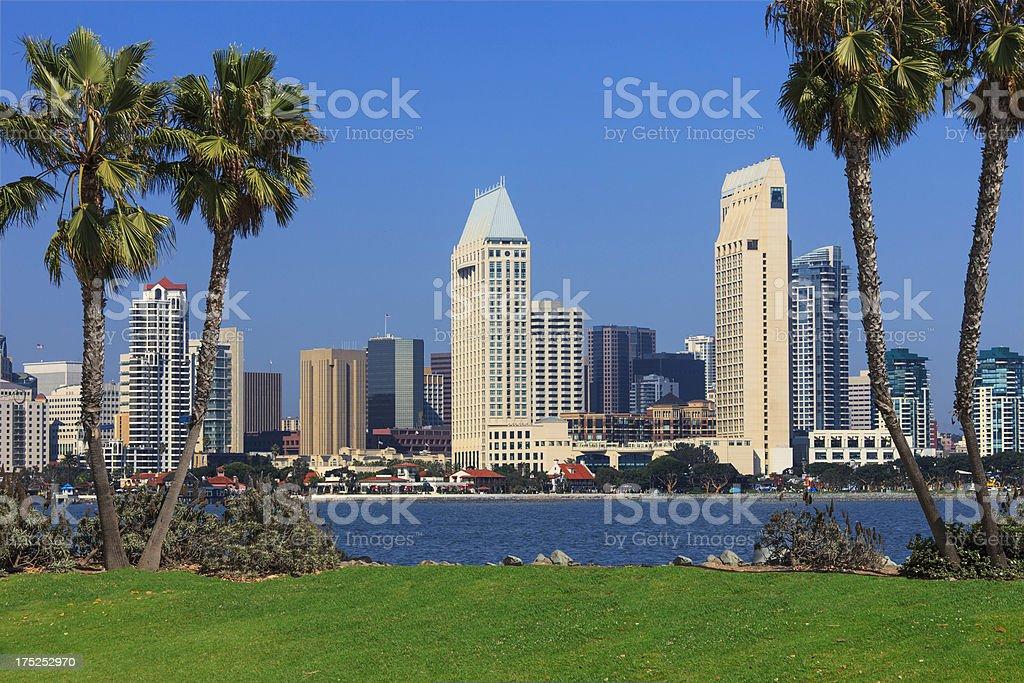 City Skyline Of San Diego, California royalty-free stock photo