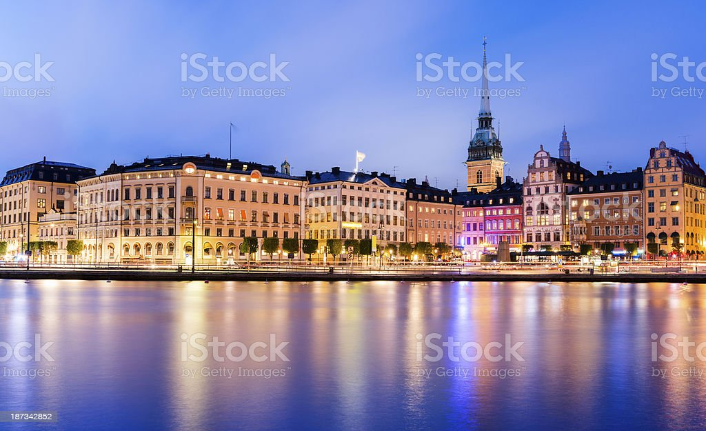 City skyline of Stockholm, Sweden. royalty-free stock photo