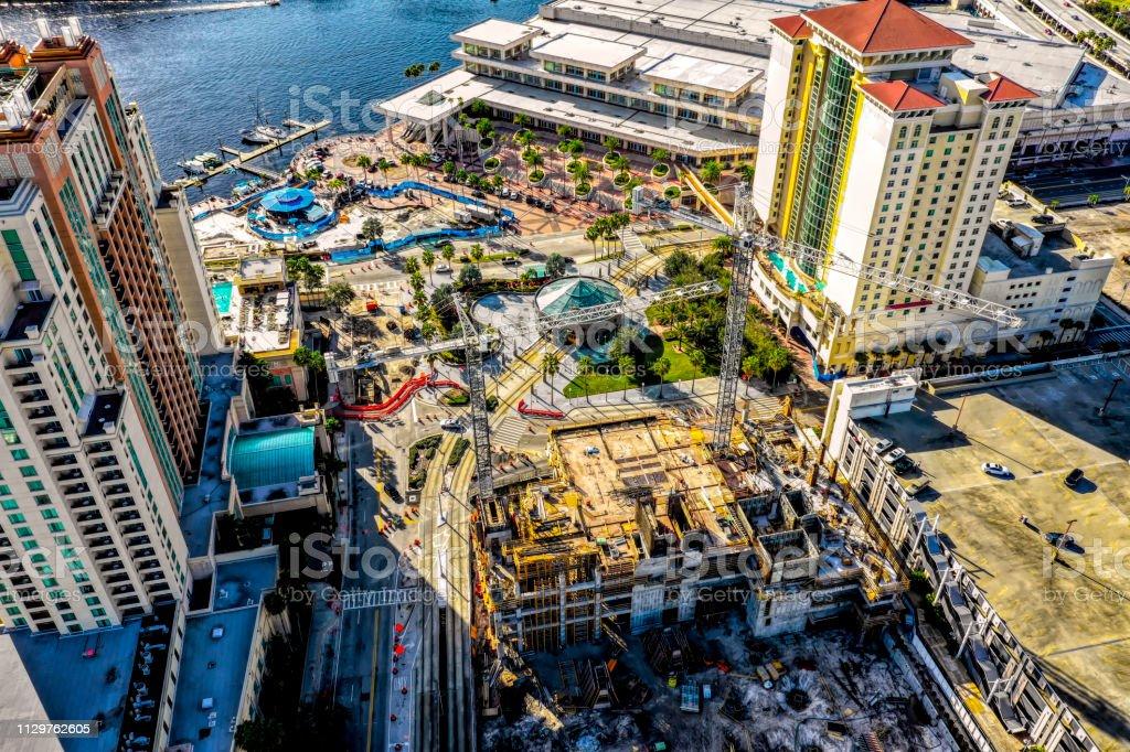 City Skyline of Tampa stock photo