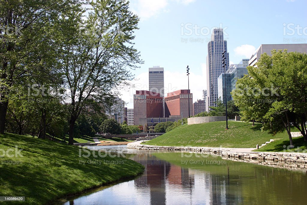 City Skyline, Omaha Nebraska stock photo