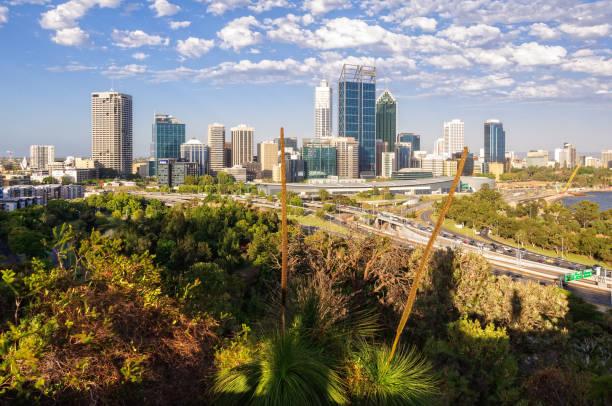 City skyline - Perth stock photo