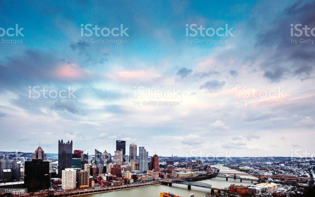 City skyline - Pittsburgh, PA stock photo
