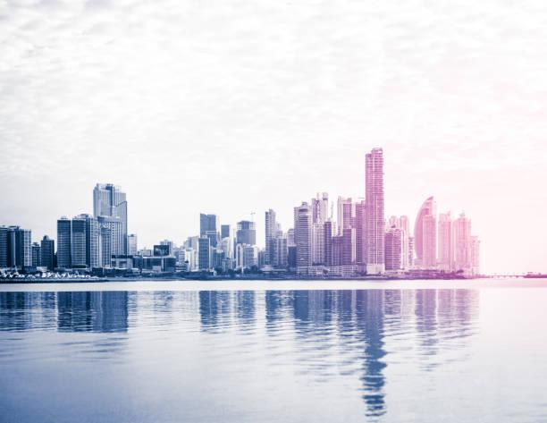 Skyline der Stadt, Wolkenkratzer Gebäude, moderne Stadtbild von Panama-Stadt, – Foto