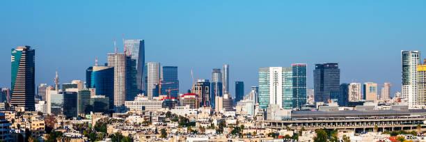 City skyline - Tel Aviv, Israel stock photo