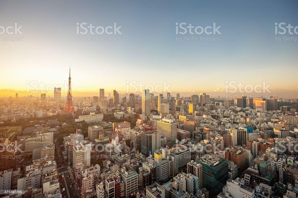 City Skyline Tokyo,Japan stock photo