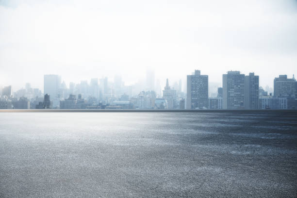 city skyline wallpaper - asfalto foto e immagini stock