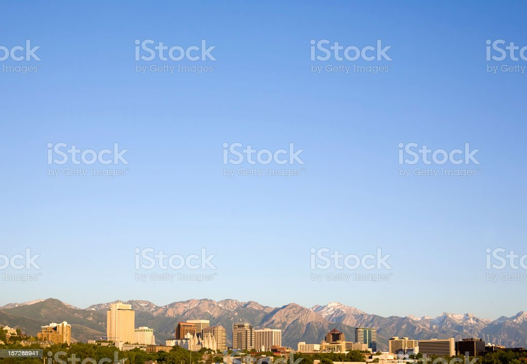 City Skyline with LOTS of Sky royalty-free stock photo