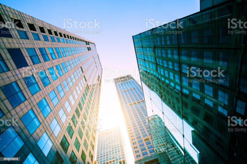 City Skyscraper Looking Up royalty-free stock photo