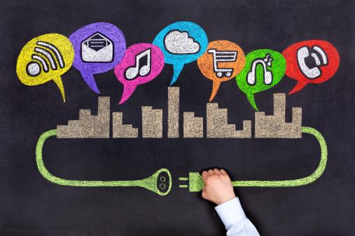City Socical Netzwerk Stockfoto und mehr Bilder von Brainstorming