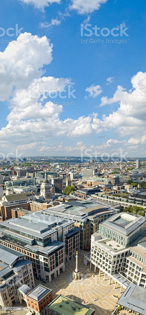 City square and offices royalty-free stock photo