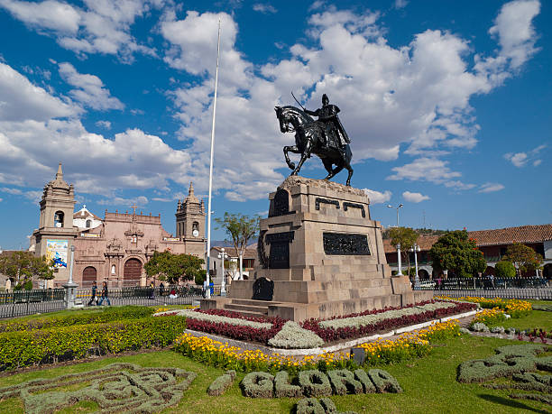 City Square in Ayacucho, Peru stock photo