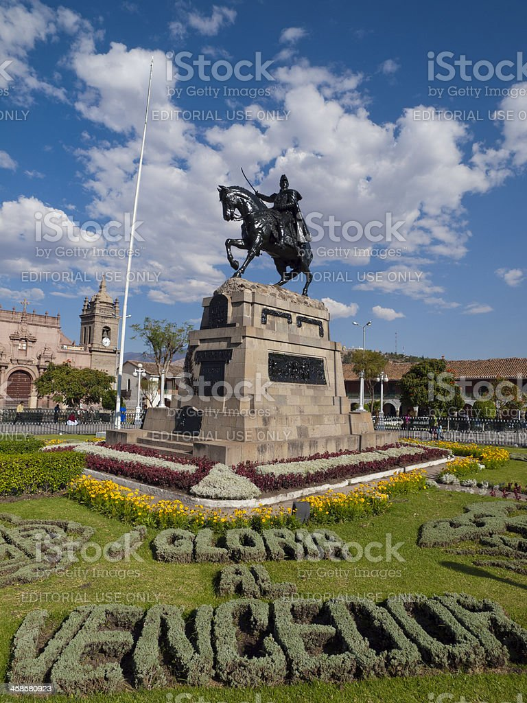 City Square in Ayacucho, Peru stock photo