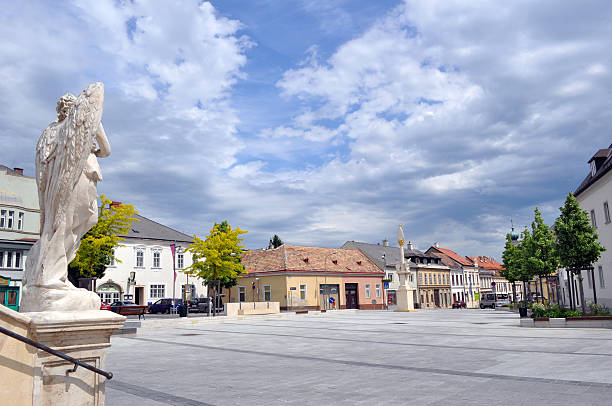 City square in Eisenstadt, Kalvarienberg stock photo