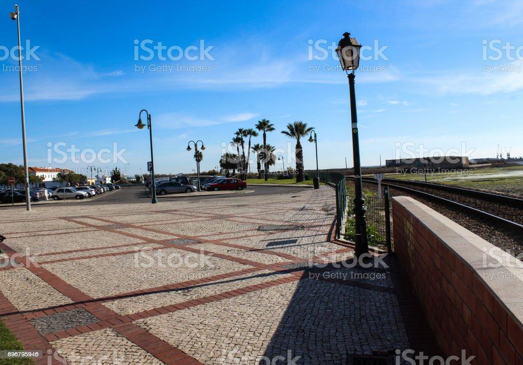 city square of Faro in Portugal