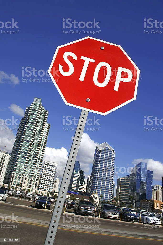 City Stop Sign royalty-free stock photo