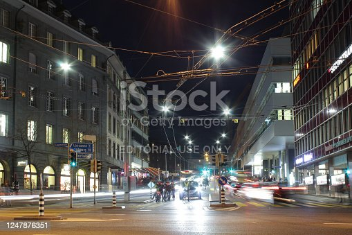 820883024 istock photo City Street At Night 1247876351