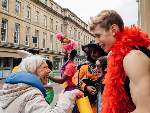 City Street Fundraisers - foto de stock