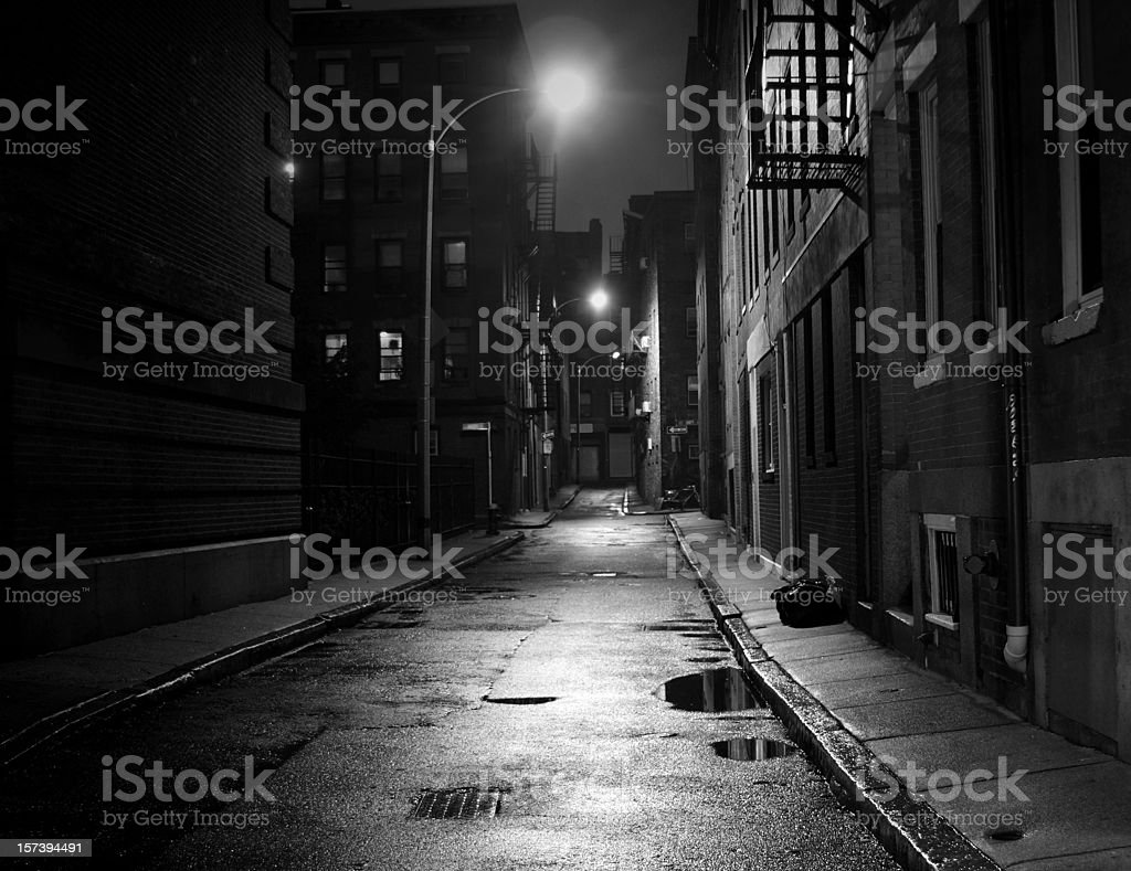City Street in Black and White stock photo