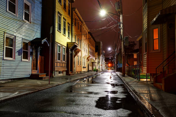 City Street in the South Boston (Southie) neighborhood stock photo