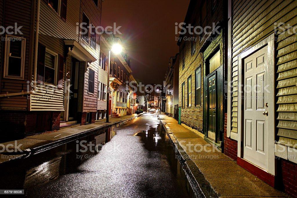 City Street in the Southie neighborhood of Boston stock photo