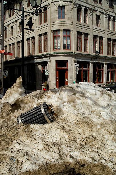 City street in winter stock photo
