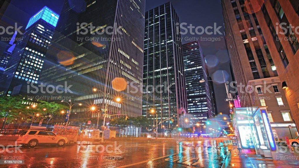 Şehir sokak, Manhattan, New York, ABD royalty-free stock photo