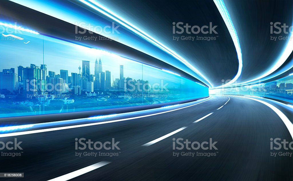 city street motion blur background stock photo