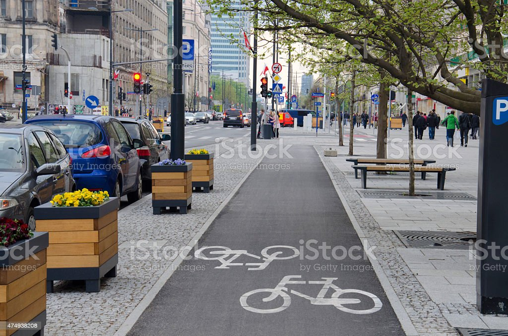 City Street stock photo
