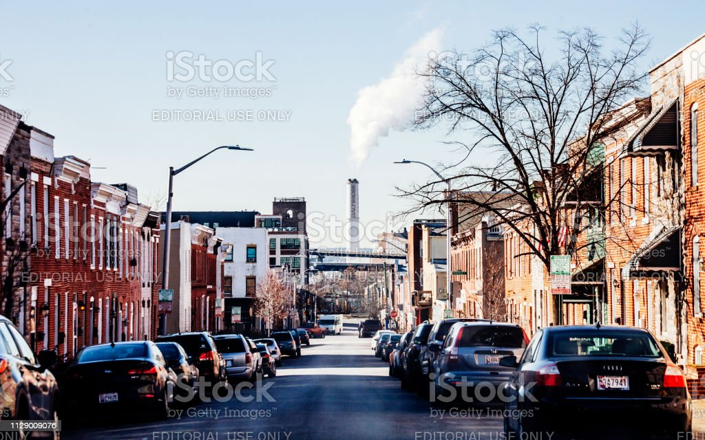 City streets - Baltimore, MD stock photo
