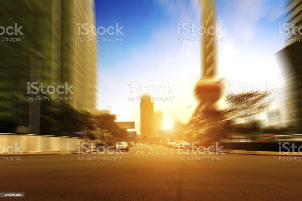 City streets stock photo