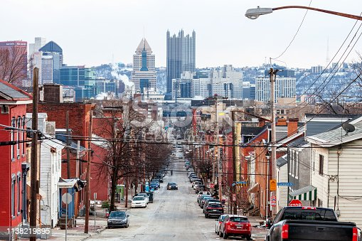 View from north Pittsburgh. Pennsylvania, USA